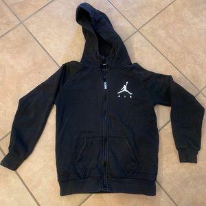 Air Jordan black hoodie zip up jacket youth L kids